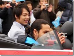 平野歩夢選手パレード