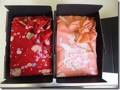 結婚式にご両親様にプレゼント体重米の風呂敷ラッピング
