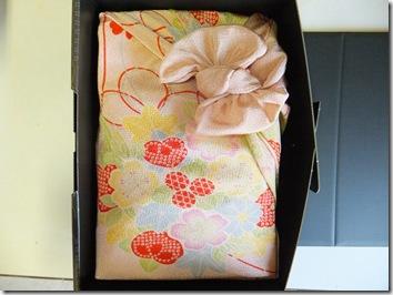 出産内祝い米の風呂敷包み