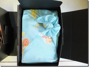 出産内祝い体重米の風呂敷包み